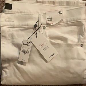 New with tags 18L white Express Leggings